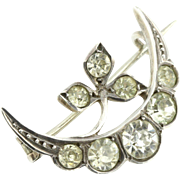 Beautiful Edwardian Continental Silver Paste Brooch- Circa 1905