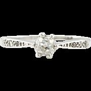 Platinum Art Deco Diamond Solitaire Engagement Ring, 0.30ct - c.1920