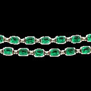Rare Georgian Paste Rivière Necklace in Emerald Green -c.1790