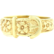 Vintage 9ct Gold Buckle Ring c.1977