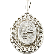 Fine Antique Victorian Aesthetic Silver Locket - Hallmarked 1881