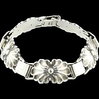 Mid-Century Vintage Scandinavian Silver Bracelet -c.1960