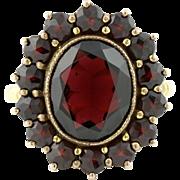 Antique 8ct Gold Garnet Cluster Ring -c.1910
