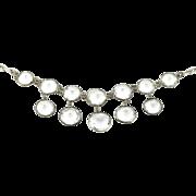 Art Deco Silver Rock Crystal Necklace c.1930