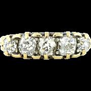 Victorian 5 Stone Old Cut Diamond Ring