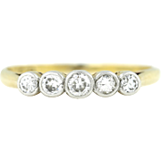 18ct Gold Art Deco 5 Stone Diamond Ring c.1920