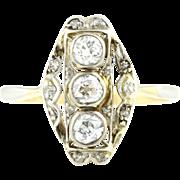 Art Deco Diamond Trilogy Ring c.1930