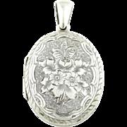 Antique Silver Locket c.1900