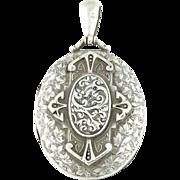 Antique Victorian Aesthetic Silver Locket c.1893