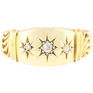 "18ct Gold Diamond ""Gypsy"" Ring c.1938"