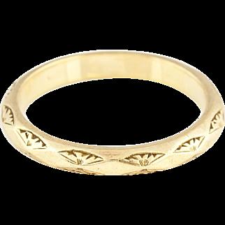 Art Deco Wedding Ring c.1945