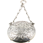 Antique Sterling Silver Compact Locket- Circa 1915