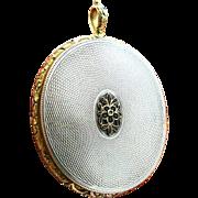 Rare Georgian Silver & Gold Over-Sized Locket - Circa 1824