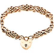 Antique Rose Gold Gate Bracelet - 9ct Gold