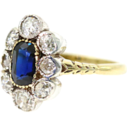 (ON HOLD) Georgian Sapphire & Diamond 18ct Gold Ring - Circa 1820