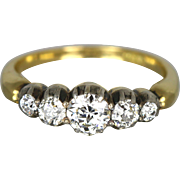 Exceptional 0.90ct 18ct Gold Georgian Diamond Ring - Circa 1820