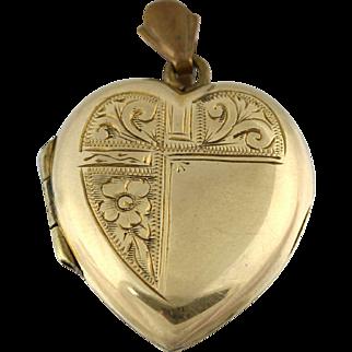 Charming Art Deco 9ct Gold Heart Locket - Circa 1925