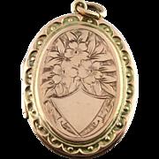 ON HOLD!  Stunning Edwardian Rose Gold Locket - Circa 1901