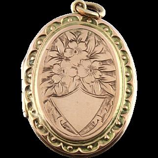 Stunning Edwardian Rose Gold Locket - Circa 1901