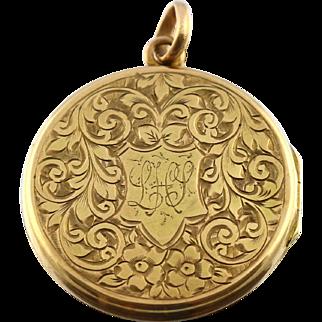 Beautiful Edwardian Gold Locket - Circa 1901