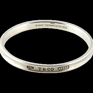 Tiffany & Co 1837 Sterling Silver Bangle