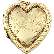 Romantic 9ct Gold Victorian Heart Locket - Circa 1850