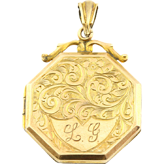 Victorian 9ct Gold Octagonal Locket