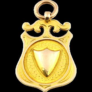 Art Deco 9ct Gold Medallion Fob