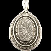Gorgeous Antique Victorian Aesthetic English Silver Locket -c.1881