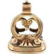 "Dainty Georgian 9ct Rose Gold ""CHARLOTTE"" Fob Pendant - c.1820"