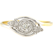 Gorgeous 18ct Gold Art Deco Diamond Engagement Ring - Circa 1920