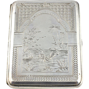 Fine Victorian Antique Silver Cigarette Case, Hallmarked 1882