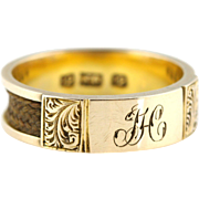 Fine Victorian 12ct Rose Gold Mourning Ring -c.1860