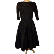 Vintage 50's Jonathan Logan Black Rockabilly Swing Dress Evening Dress Size 10