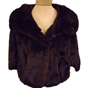1960s Mink Fur Cape Wrap or Shawl by Furs by Richard