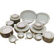 60's Noritake Fine China Dinnerware Set for 12 Laurel Pattern  90 Pieces