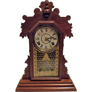 Antique 1881 Rare Gingerbread Kitchen Clock by The E Ingraham & Co