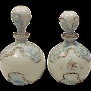 Antique Barber Bottles Dithridge Milk Glass Style c 1890