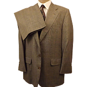 70s Corbin Ltd Men's Suit Gray Glen Plaid Pattern Size 40
