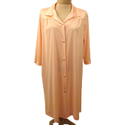 70s Vanity Fair Peignoir Robe in Peach  Size S