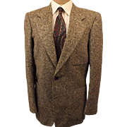 70's Chevoit Tweed Sport Coat Jacket in Gray Size 40R