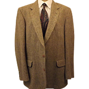 70's Donegal Tweed Brown Sport Coat by Magee Size 40