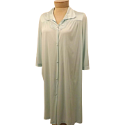 70's Vanity Fair Nightgown or Dressing Gown Light Blue Robe Size S
