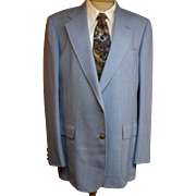 70's Cricketeer Wimbledon Men's Blue Sport Coat Size 40 L