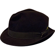 60's Resistol Brown Wool Fedora Felt Hat by Byer Rolnick Size 7 1/8