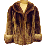 Vintage Faux Fox Fur Jacket or Coat Regina Glenera by Glenoit Size M