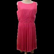 50's R & K Originals Pink Sleeveless Day Dress Size 14