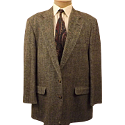 70's Gray Herringbone Men's Sport Coat by Corbin Ltd Size 42 L