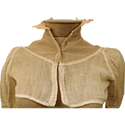 1800's  Handmade Victorian Lingerie Linen Corset Cover Bodice