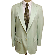 80's Vintage Men's Green Cotton Sport Coat Size 38 S